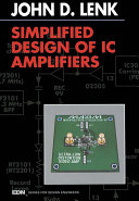 Pdf Simplified Design of IC Amplifiers Telecharger