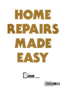 Home Repairs Made Easy