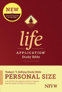 NIV Life Application Study Bible  Third Edition  Personal Size  Softcover