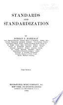 Standards and Standardization