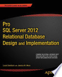Pro SQL Server 2012 Relational Database Design and Implementation Book