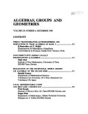 Algebras  Groups  and Geometries