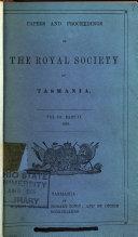 Papers and Proceedings of the Royal Society of Van Diemen's Land