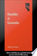 Durability of Geotextiles