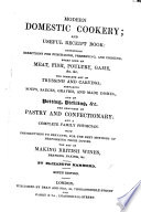 Modern Domestic Cookery  and useful receipt book     Ninth edition