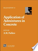 Application Of Admixtures In Concrete PDF