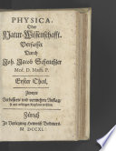 Physica, oder Natur-wissenschafft