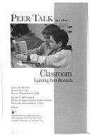 Peer Talk in the Classroom