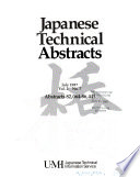 Japanese Technical Abstracts