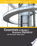 Essentials of Modern Business Statistics with Microsoft Office Excel  Book Only  Book