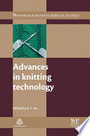Advances in Knitting Technology Book