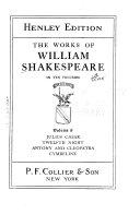 Julius Caesar  Twelfth night  Antony and Cleopatra  Cymbeline Book