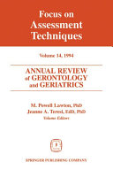 Annual Review of Gerontology and Geriatrics, Volume 14, 1994
