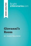 Giovanni s Room by James Baldwin  Book Analysis