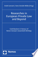 Researches in European Private Law and Beyond