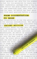From Dissertation to Book, Second Edition