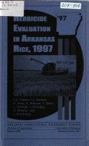 Herbicide Evaluation in Arkansas Rice, 1997