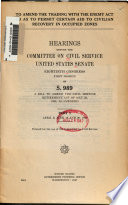 To Amend the Trading with the Enemy Act So as to Permit Certain Aid to Civilian Recovery in Occupied Zones Book