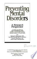 Preventing Mental Disorders Book