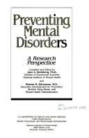 Preventing Mental Disorders