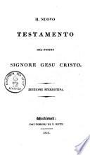 Il Nuovo Testamento Del Nostro Signore Gesu Cristo