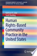 Human Rights Based Community Practice In The United States