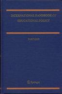 Pdf International Handbook of Educational Policy