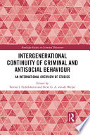 Intergenerational Continuity of Criminal and Antisocial Behaviour