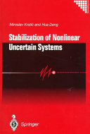 Stabilization of Nonlinear Uncertain Systems