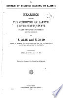 Revision of Statutes Relating to Patents