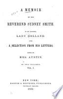 A Memoir of the Reverend Sydney Smith Book