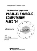 International Symposium On Parallel Symbolic Computation
