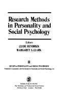 Research Methods in Personality and Social Psychology