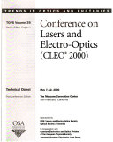 2000 Conference on Lasers and Electro-Optics