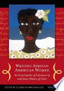 Writing African American Women  A J