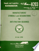 Manufacturers  Symbols and Designations for Anti friction Bearings Book