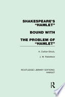 Shakespeare s    Hamlet    bound with The Problem of  Hamlet