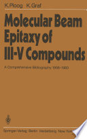 Molecular Beam Epitaxy of III   V Compounds Book