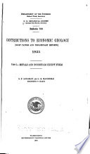 Contributions to Economic Geology (short Papers and Preliminary Reports, 1925