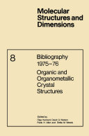 Bibliography 1975–76 Organic and Organometallic Crystal Structures
