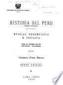 Historia del Peru ...: Periodo autoctono