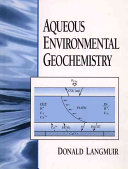 Aqueous Environmental Geochemistry Book