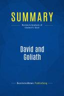 Summary  David and Goliath