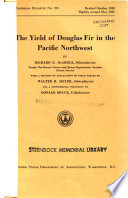 The Yield of Douglas Fir in the Pacific Northwest Book PDF