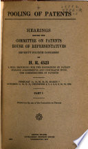 Pooling of Patents