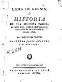 Lidia de Gersin, ó, Historia de una señorita inglesa de ocho años