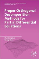 Proper Orthogonal Decomposition Methods For Partial Differential Equations Book PDF