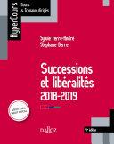Pdf Successions et libéralités Telecharger