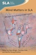 Mind Matters in SLA Pdf/ePub eBook