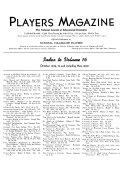 Pdf The Players Magazine